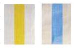 Zeil geel-wit Blauw-wit partykraam