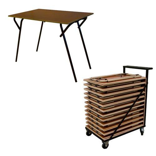 Aanbiedingen Examentafels tentamentafels met transportkarren opslagkar uit voorraad, scherpste prijs, af fabriek. kijk ook voor de bijpassende klapstoelen