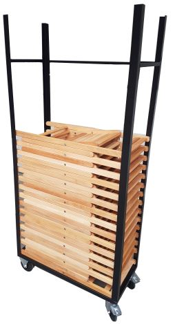 Transportkar voor houtenklapstoelen