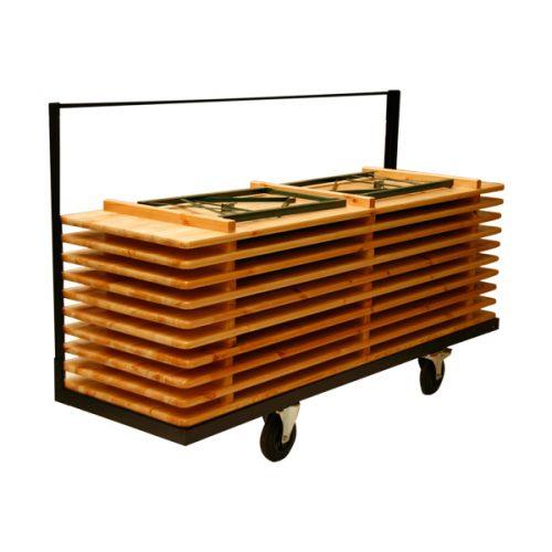 Transportkar opslagkar Partysets biersets 220 x 50-60-70-80 cm breed. Solide frame: Koker zwart epoxy.Direct uit voorraad.