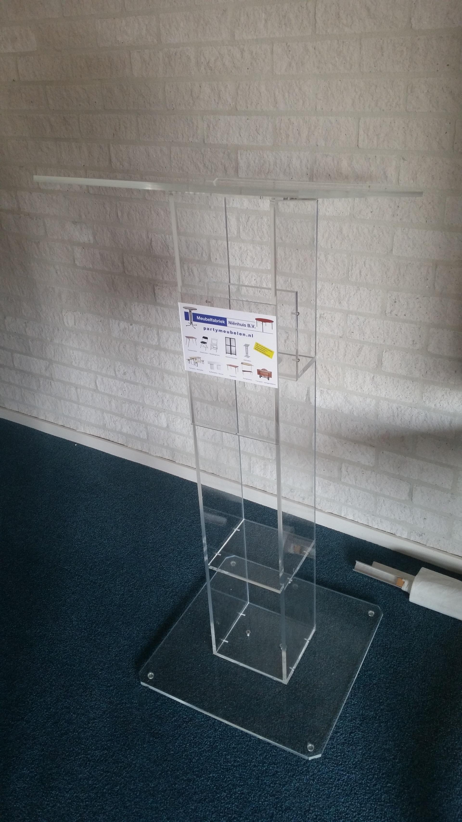 Spreekgestoel katheder Plexiglas
