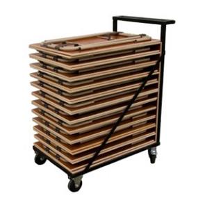 Transportkar voor examentafels tentamentafels
