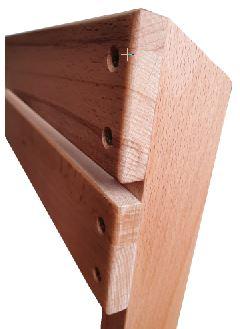 Houten klapstoel Gradac Detail Rug