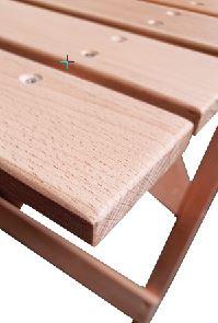 Houten klapstoel plooistoel Gradac Detail zitting