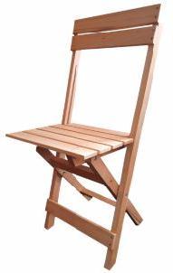 Solide Houten klapstoel FESTIVAL blank gelakt
