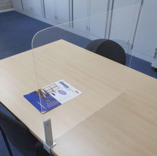 Universeel flexibele tafelafscheiding spatscherm kuchscherm